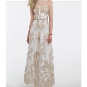 Camille La Vie White Elegant Floor-length Dress